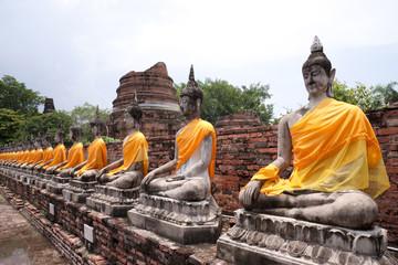 Buddha statues,Wat Yai Chai Mongkol