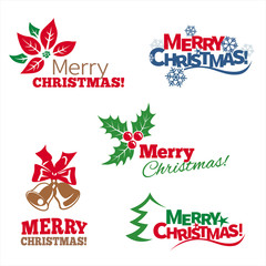 Christmas graphic symbols. Vector set.