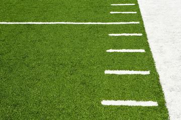 Hash marks on American football field