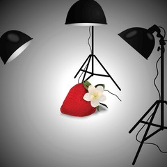 Background  of Subject photography with Strawberry