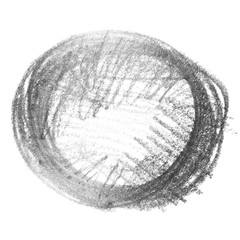 circle hatching grunge graphite pencil background and texture isolated on white background, design element