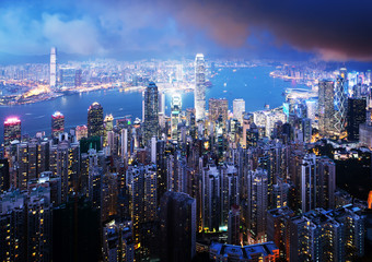 Foto auf Acrylglas Hongkong Hong kong from the Victoria peak