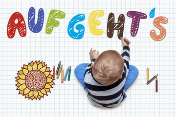Kinderzeichnung - Auf geht`s
