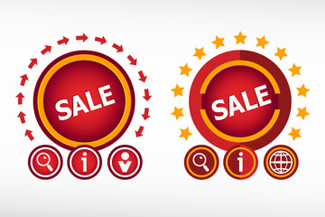 Sign of sale on creative background