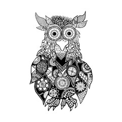 Owl. A wise and creative bird.