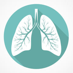 Human Lung flat icon