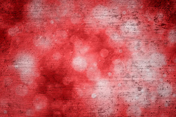 Grunge abstract bokeh red color greeting card copy space background. Beautiful red colored Happy Holidays greeting card illustration background.