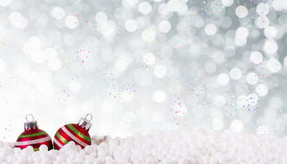 weihnachten grau bokeh