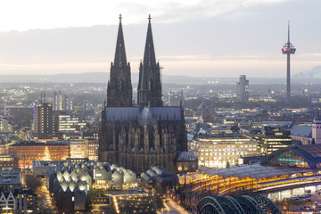 Poster Northern Europe Cologne Cityscape