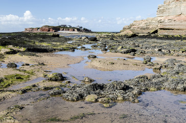 Low tide at Middle Eye, Hilbre Island, Wirral, England.