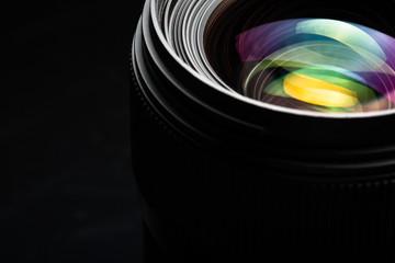 Professional modern DSLR camera llense ow key image