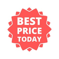 Best price today button sign icon
