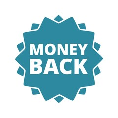 Money Back button sign icon