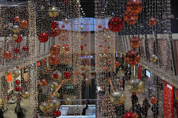 Christmas decorations at shopping center