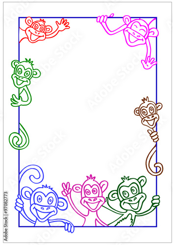 monkey chinese new year 2016 frame for design - Monkey Picture Frame
