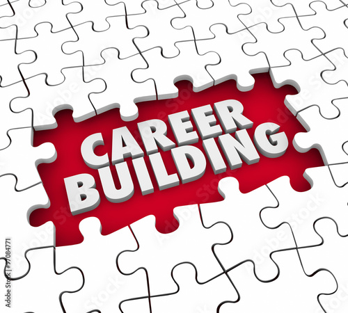 career building puzzle pieces start new job position experience