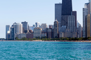 Color DSLR image of the downtown city skyline, Chicago, Illinois