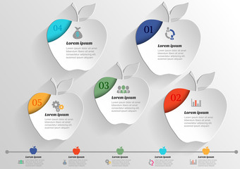 Infographic banners Templates for business .Vector