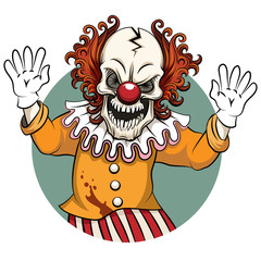Clown vector illustration