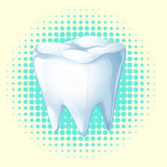 Dental theme with tooth