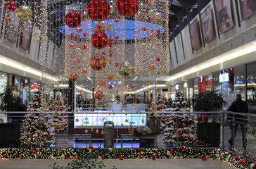 Cristmas decorations at shopping center