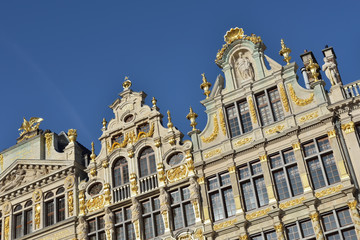 Foto restored buildings of guild houses on grand place in brussels