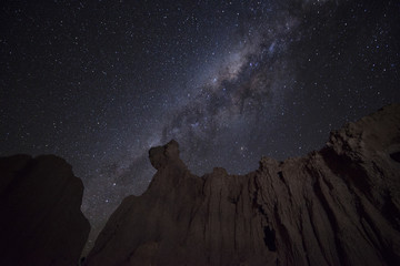Canyon with milky way