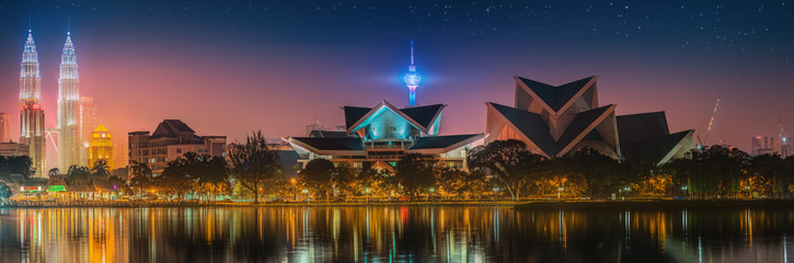 Photo Stands Kuala Lumpur Kuala Lumpur night Scenery, The Palace of Culture