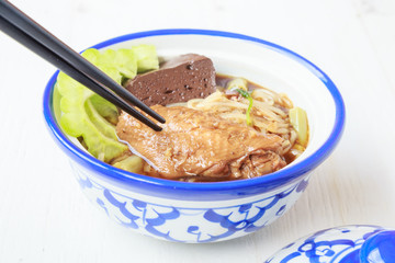 Noodle soup with chicken asia food