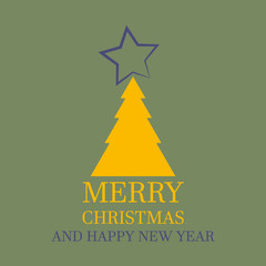 Simple Cards Merry Christmas And Happy New Year - Wishes
