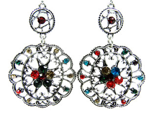 earrings jewellery with bright crystals