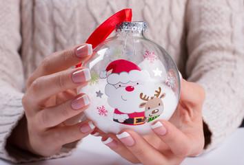 Wall Mural - Beautiful Christmas glass ball.