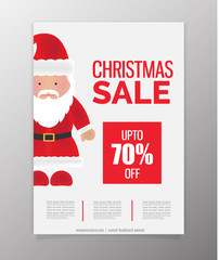 Christmas Sale Flyer. Vector