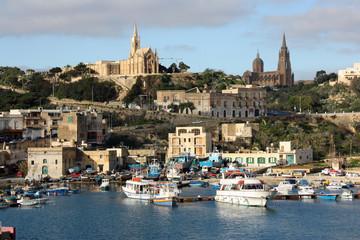 Malte, le port de Victoria à Gozo