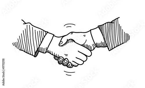 Handshake Doodle a hand drawn vector doodle illustration of hands – Mutual Business Agreement