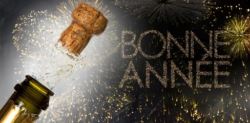 Composite image of close up of champagne cork popping