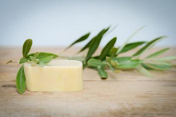 Naturseife aus Olivenöl