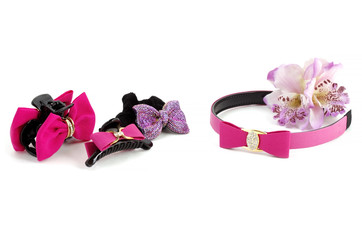 Hair Accessories advertising (orchid)