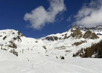 Ski resort Passo Tonale, Italy, Rhaetian Alps