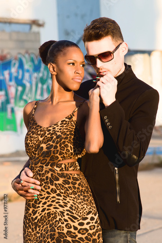 Black girl with white couple
