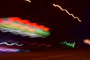 light trails of small town life.