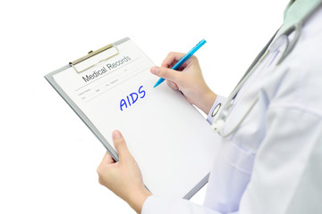 Medical record with AIDS disease
