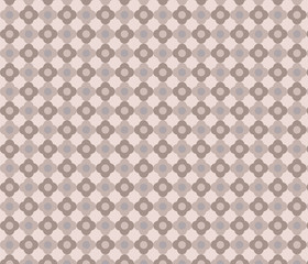 Geometric floral pattern. Vector