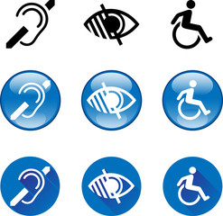 Deaf, Blind, Disabled Symbols