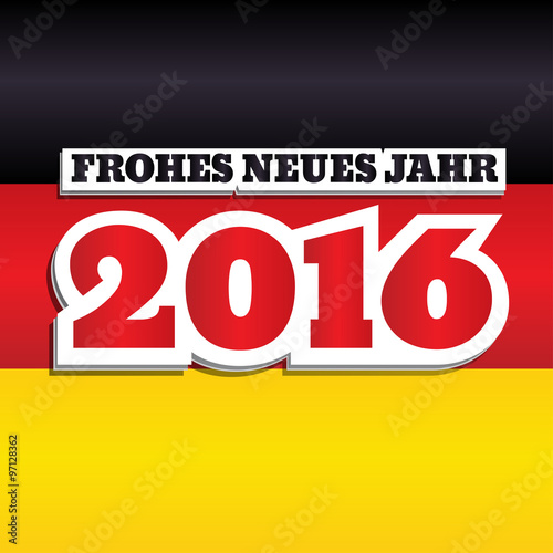 vector new year 2016 greeting card design with text in german frohes neues jahr