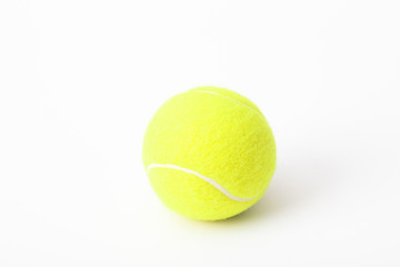 Closeup of tennis balls isolated on white background.
