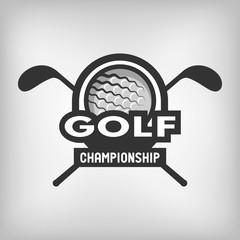 Golf sports logo.