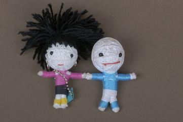 handmade dolls closeup