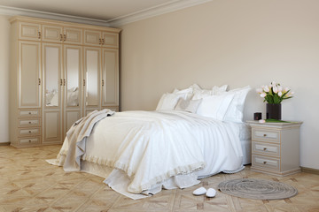 Bedroom in soft colors1