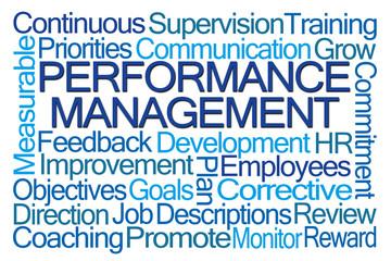 Performance Management Word Cloud